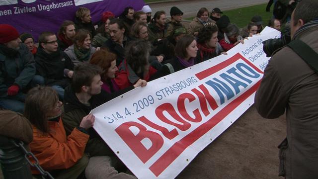 Block NATO Strasbourg 2009
