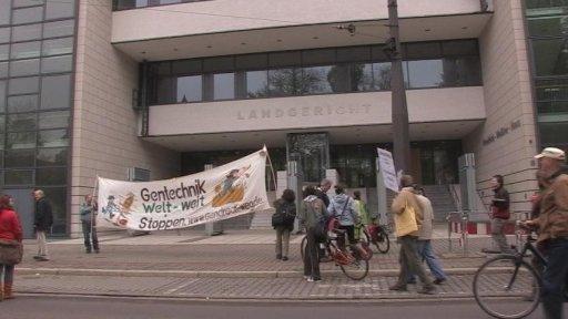 FeldbefreierInnen des Genweizenfeldes in Gatersleben vor Gericht
